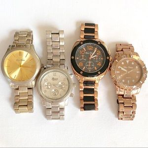 4 large face watches